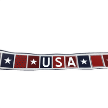 "2.5"" x 10 YDS USA Block Ribbon - Red, White, & Blue"