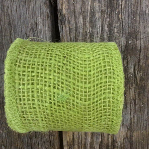 "2.5"" x 10YDS Colorfast Loose Weave Burlap Apple Green"