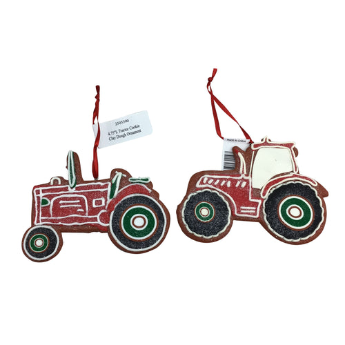 5 Inch Tractor Cookie Clay Dough Ornament 2 Styles