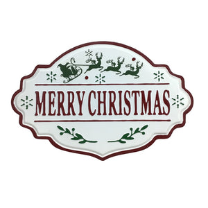 21 Inch Metal Merry Christmas Sign