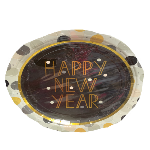 Happy New Year Dinner Plates Pack