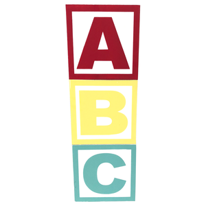 "3-Piece 6"" ABC Multicolor Chevron Blocks"