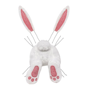 3-Piece Plush Bunny Bottom & Ears Wreath Kit