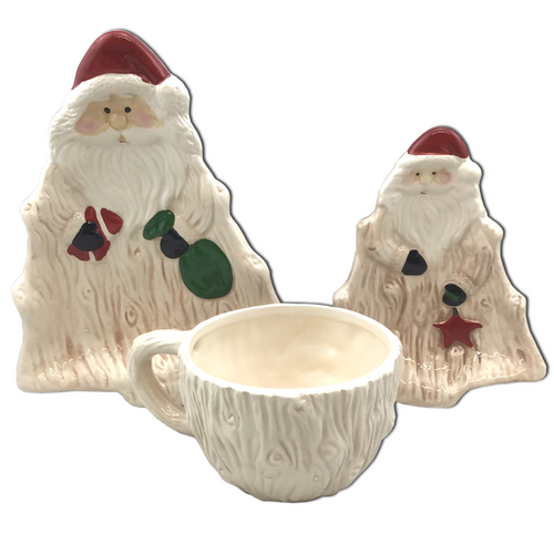 3 Piece Santa Cocoa and Cookies Set