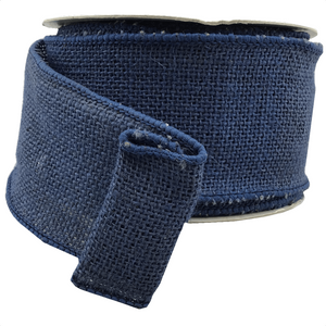 "3"" x 10 YDS Navy Burlap Ribbon"