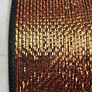 "3"" x 20 YDS Designer Netting - Black with Copper Glamour"