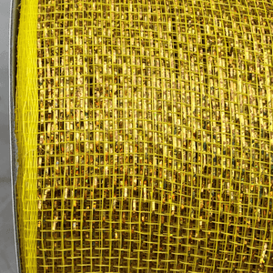 "3"" x 20 YDS Designer Netting - Yellow with Gold Glamour"