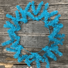 "30"" Original Circular Work Wreath - 44 Tips - Turquoise"