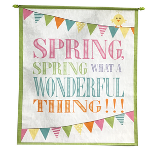 "30"" Spring Wall Canvas Banner"