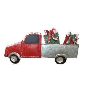 "31"" x 18"" Christmas Metal Red Truck Wall Decor - Two Styles"