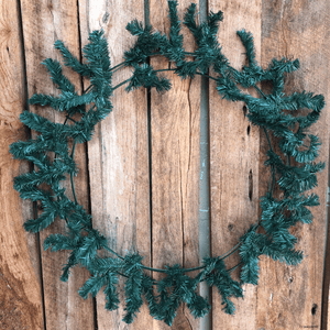 "36"" Round Work Wreath Evergreen"