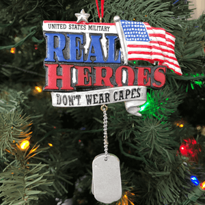 "3.75"" Patriotic Navy Ornament"