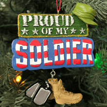 "3.75"" Proud of My Soldier Ornament"