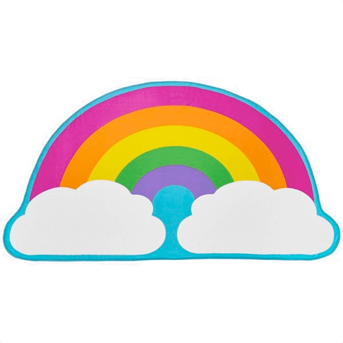 3C4G Jumbo Rainbow With Clouds Beach Blanket