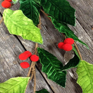 4' Felt Holly Garland