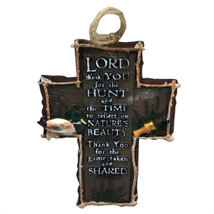 "4"" Hunting Cross Ornament"