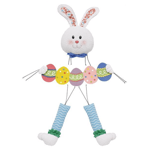 4 Piece Plush Bunny Holding Easter Eggs Wreath Kit
