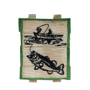 "4"" Wooden Fishing Ornaments - Three Styles"