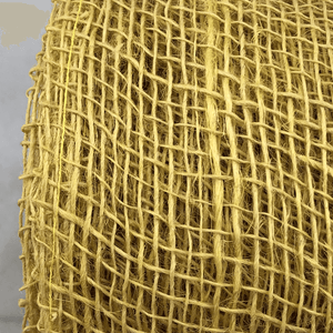 "4"" x 10 YDS Designer Jute Yellow Netting"