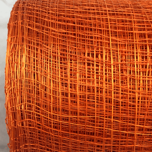 "4"" x 10 YDS Orange Designer Netting"