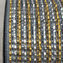 "4"" x 20 YDS Designer Netting - Silver and Gold Glamour"