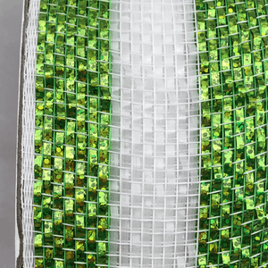 "4"" x 20 YDS Designer Netting - White and Green Glamour"