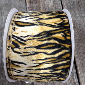 "4"" x 25 YDS Fleece Tiger Print Ribbon"