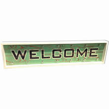 "40"" x 9.75"" Wood LED ""Welcome"" Sign"