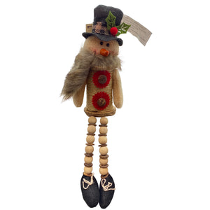 14 Inch Plush Holiday Snowman Sitter
