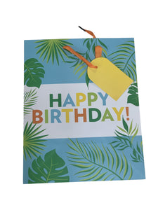 Happy Birthday Leaf Gift Bag