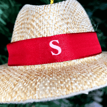 "4.75"" Nick Saban Panama Hat Ornament"