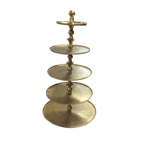 "48"" Gold Texture 5-Tier Stand"