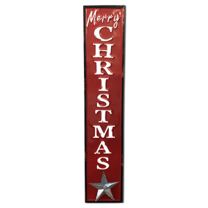 "48"" Rustic Metal Embossed Christmas Sign - 2 Styles"