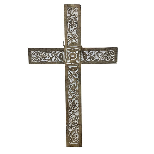 Wood Wall Cross 24 Inches Tall 15 Inches Wide