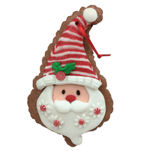 "5"" Clay Dough Cookie Santa/Snowman Ornament - 2 Styles"