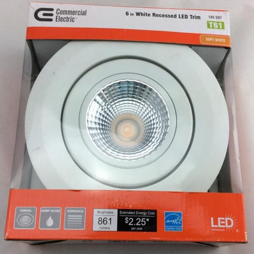 5 Inch And 6 Inch White Recessed LED Trim Damaged Box
