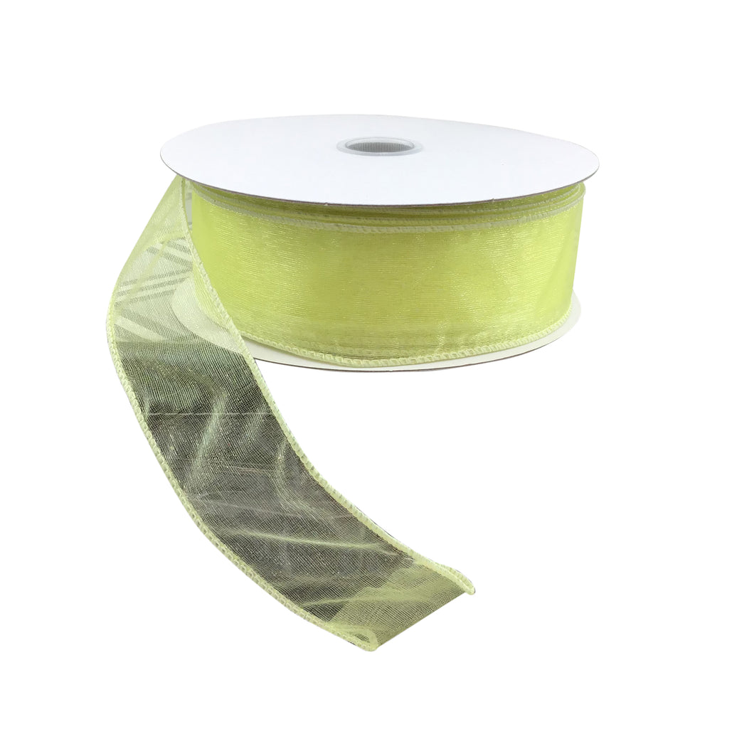 Wired Sheer Yellow Ribbon