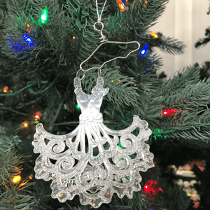"5.5"" Glitter Dress Ornament"