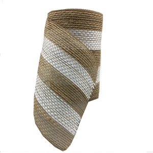 "5.5"" x 10 YDS Poly Burlap Mesh Ribbon With White Center"