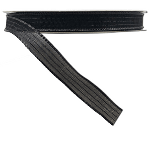 "5/8"" x 50 YDS Sheer Satin Black Striped Ribbon"