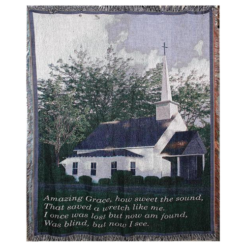 59 Inch Amazing Grace Church Afghan Throw