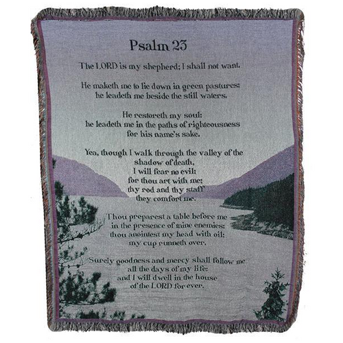 5 Inch  Psalm 23 Afghan Throw