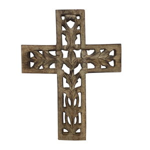 Wood Wall Cross 12 Inches Tall 9 Inches Wide