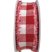 Woven Flannel Red And White Check