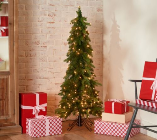 Bethlehem Lights 5 Foot Slim Green Downswept Tree- Multilights