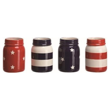 "6"" Ceramic America Themed Mason Jar - 4 Styles"