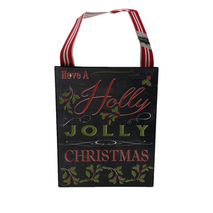 "6"" Chalkboard Christmas Song Ornaments - 2 Styles"