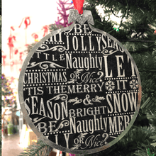 "6"" Christmas Phrases Metal Ornament"
