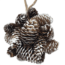 "6"" Snow Pinecone Ball Ornament"