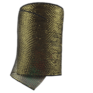 "6"" x 20 Designer Netting - Black with Gold Glamour"